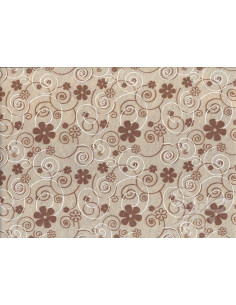 Feltro 1mm 30x40cm Curly Flowers Beige-Marrone-Bianco 2501302