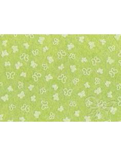 Feltro 1mm 30x40cm Farfalle Verde salvia-Bianco 25017345