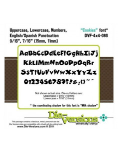 Set 2 Fustelle Die-Versions - Cookies font DVD4x4-086