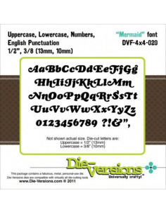 Set 2 Fustelle Die-Versions - Mermaid font DVF4x4-029