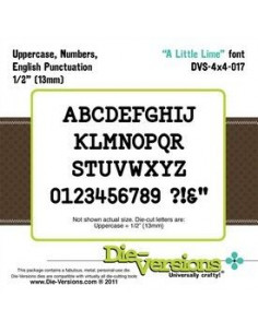 Fustella Die-Versions - A Little Lime font DVS4x4-017
