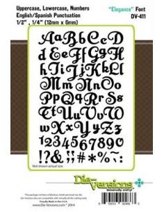 Fustella Die-Versions - Elegance font DV-411