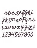 Fustella Sizzix Bigz XL Alphabet - Cutout Script 662709