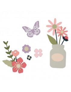 Fustella Sizzix Framelits - Thinlits - Garden Florals 662514