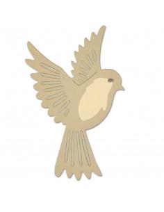 Fustella Sizzix Thinlits Set 3Pz - Natural Bird: 661703