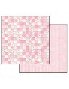Foglio Double Face Baby Girl patchwork rosa
