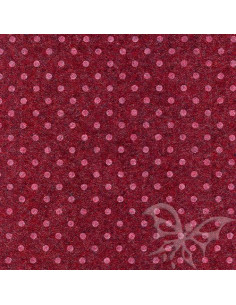Foglio FELTRO 30x40cm 1mm POIS Rosso Melange-Bianco 25017141