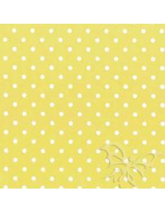 Foglio FELTRO 30x40cm 1mm POIS Giallo Pastello-Crema 25017156