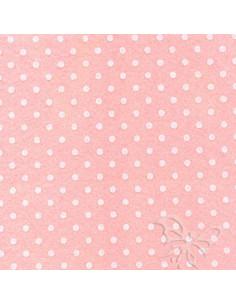 Foglio FELTRO 30x40cm 1mm POIS Rosa Baby-Bianco 25017136