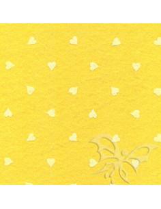 Sheet FELT 30x40cm 1mm HEARTS Baby Pink-White 25017236