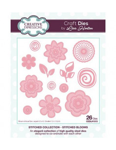 Fustella Stitched Collection Stitched Blooms CEDLH1013