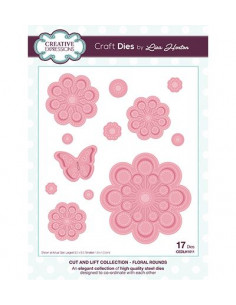 Fustella Cut and Lift Collection Floral Rounds CEDLH1011