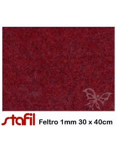 Foglio FELTRO 30x40cm 1mm Rosso Melange 25017041