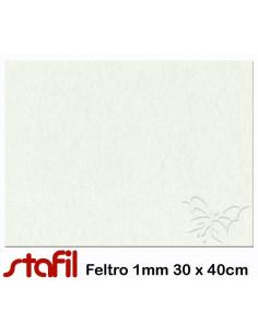 Foglio FELTRO 30x40cm 1mm Panna 25017029