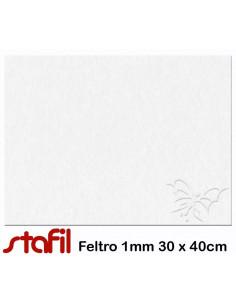 Foglio FELTRO 30x40cm 1mm Bianco 2501701