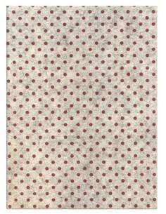 Feltro 3mm 50x70cm Pois Bianco Melange-Rosso
