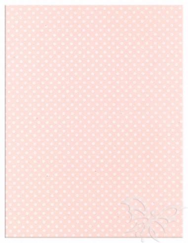 Foglio Moosgummi 40x60cm 2mm Pois Rosa Pastello-Bianco