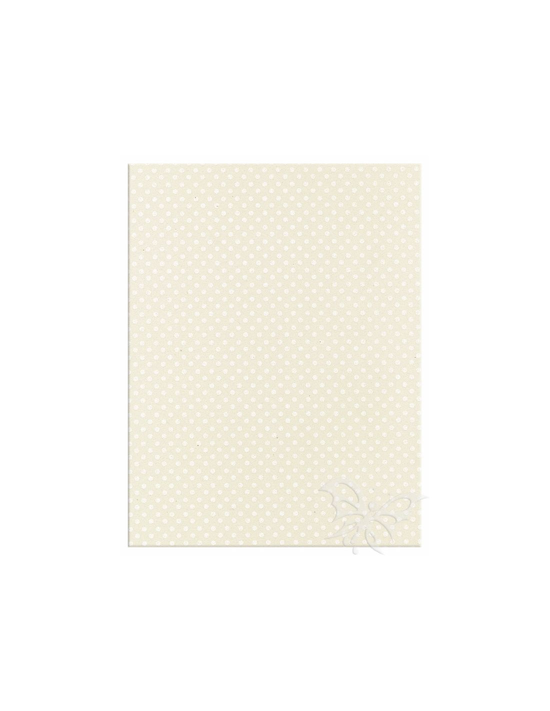 Foglio moosgummi pois panna bianco jpg 800x800 Moosgummi 40x60cm f418cc5ddd3