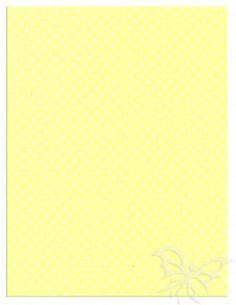 Foglio Moosgummi 40x60cm 2mm Pois Giallo Pastello-Bianco