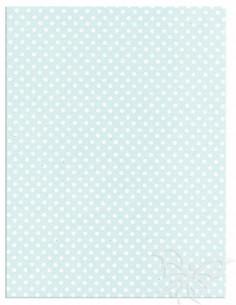 Foglio Moosgummi 40x60cm 2mm Pois Azzurro Pastello-Bianco