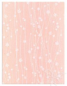 Foglio Moosgummi 40x60cm 2mm Fiori Rosa Pastello-Bianco
