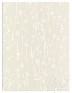 Foglio Moosgummi 40x60cm 2mm Fiori Panna-Bianco