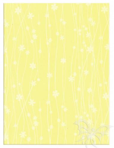 Foglio Moosgummi 40x60cm 2mm Fiori Giallo Pastello-Bianco