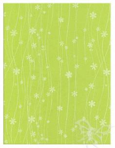 Foglio Moosgummi 40x60cm 2mm Fiori Verde Pistacchio-Bianco