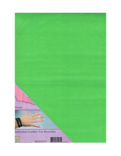 Tessuto in finta pelle Verde A4