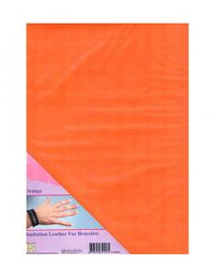 Tessuto in finta pelle Arancione A4