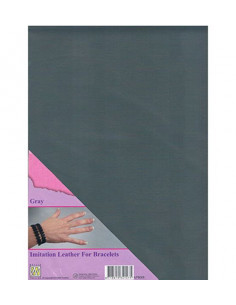 Fabric Imitation Leather Gray A4