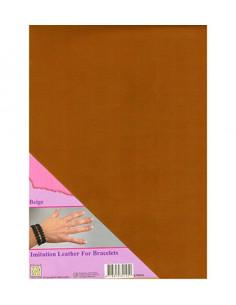 Tessuto in finta pelle Marrone A4