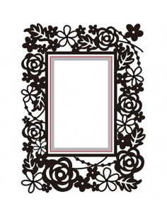 Set libretto Embossing & Fustella - Rectangle-floral HSEFD004