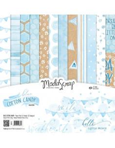 SET 12fg. CARTA ModaScrap BLUE COTTON CANDY cm30x30