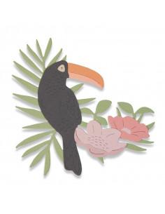 Fustella Sizzix Thinlits - Tropical Bird 662544