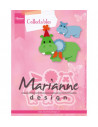 Fustella Marianne Design Collectables - Eline's happy hippo COL1450
