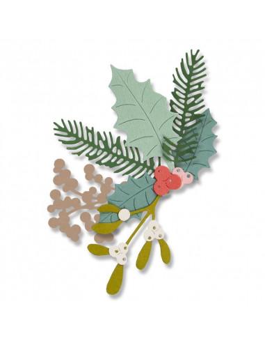 Fustella Sizzix Thinlits Set 8Pz - Winter Foliage 662571