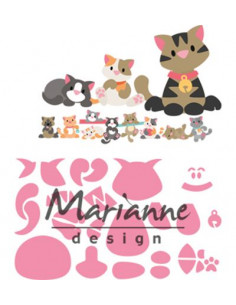 Fustella Marianne Design Collectables - Eline's kitten COL1454