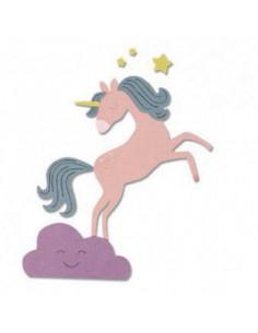 Fustella Sizzix Thinlits - Unicorno 663028