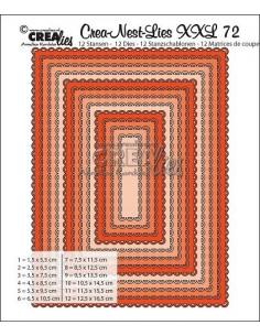 Fustella Crealies set di 12 cornici Rettangolari CLNestXXL72