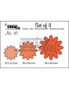 Fustella Crealies set x 3 Fiori n.10 CLSET10