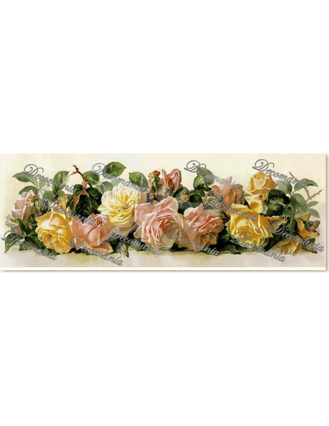 Carta decoupage rose miste 25x70cm m1127 for Carta decoupage