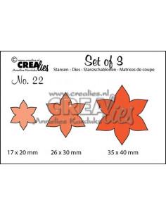Fustella Crealies set x 3 Fiori 13 n.22 CLSET22