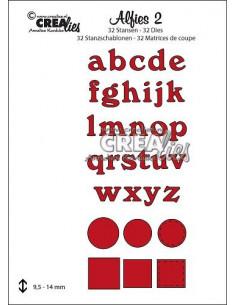 Fustella Crealies set x 32pz Alfabeto minuscolo 2 CLALF02