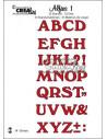 Fustella Crealies set x 33pz Alfabeto Maiuscolo 1 CLALF01