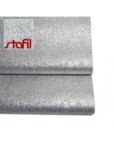 Similpelle Glitter 50x70cm Argento