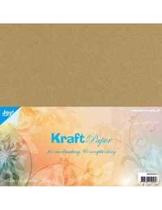 Set 20 fogli Cartoncino Kraft 220gr 30,5x30,5cm