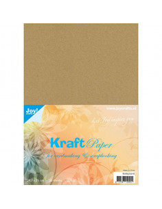 Set 25 fogli Cartoncino Kraft A4 220gr