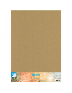 Set 10 fogli Cartoncino Kraft 300gr 50x35cm