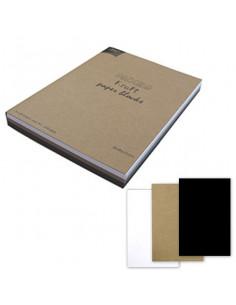 Set 60 fogli Cartoncino Kraft 220gr formato A4 in 3 colori